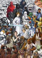 Komar Star Wars Classic Cartoon Collage Fotobehang 184x254cm 4-delig