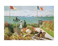 PGM Claude Monet - Terazza sul mare a Saint-Adresse Kunstdruk 50x40cm