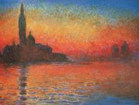 PGM Claude Monet - Crepuscolo Kunstdruk 80x60cm