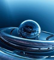 Dimex Glass Sphere Vlies Fotobehang 225x250cm 3-banen