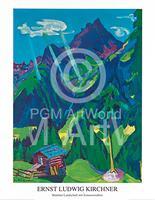 PGM Ernst Ludwig Kirchner - Bündner Landschaft Kunstdruk 70x90cm