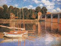 PGM Claude Monet - Il ponte di Argenteuil Kunstdruk 80x60cm