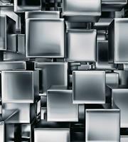 Dimex Metal Cubes Vlies Fotobehang 225x250cm 3-banen