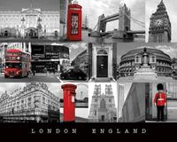 Pyramid London England Poster 50x40cm