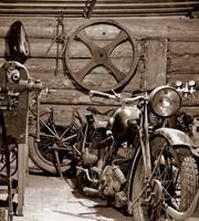 Dimex Vintage Garage Vlies Fotobehang 225x250cm 3-banen