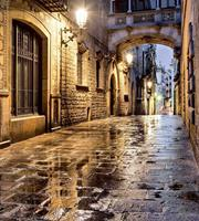 Dimex Ancient Street Vlies Fotobehang 225x250cm 3-banen