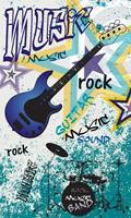 Dimex Blue Guitar Vlies Fotobehang 150x250cm 2-banen