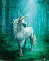 Pyramid Anne Stokes Forest Unicorn Poster 40x50cm