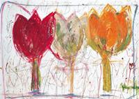 PGM Ursula Meyer-Petersen - 3 Tulips Kunstdruk 70x50cm