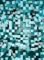 Wizard+Genius 3D Squares Blue Vlies Fotobehang 192x260cm 4-banen