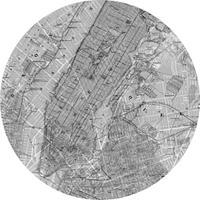 Komar Map Vlies Fotobehang 125x125cm rond