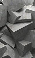Dimex Concrete Cubes Vlies Fotobehang 150x250cm 2-banen
