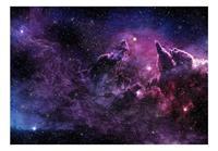 Artgeist Purple Nebula Vlies Fotobehang 100x70cm