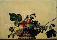 PGM Caravaggio - Cesto di frutta Kunstdruk 80x56cm