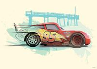Komar Cars Lightning McQueen Kunstdruk 70x50cm