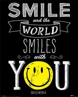 Pyramid Smiley World Smiles With You Poster 40x50cm