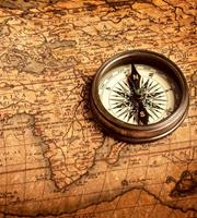 Dimex Compass Vlies Fotobehang 225x250cm 3-banen