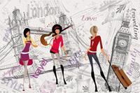 Dimex London Style Vlies Fotobehang 375x250cm 5-banen