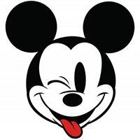 Komar Mickey Head Optimism Zelfklevend Fotobehang 125x125cm rond
