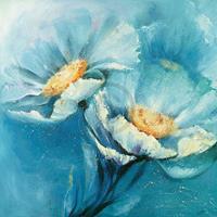 PGM Elena Filatov - Symphonie in Blau Kunstdruk 98x98cm