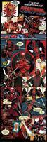 Pyramid Deadpool Panels Poster 53x158cm
