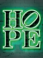 Wizard+Genius Neon Tube Hope Vlies Fotobehang 192x260cm 4-banen