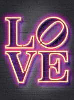 Wizard+Genius Neon Tube Love Vlies Fotobehang 192x260cm 4-banen