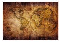 Artgeist World on Old Map Vlies Fotobehang 300x210cm