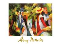 PGM August Macke - Ragazze sotto gli alberi Kunstdruk 70x50cm