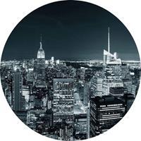 Wizard+Genius New York at Night II Vlies Fotobehang 140x140cm rond