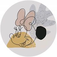 Komar Minnie Line Art Zelfklevend Fotobehang 125x125cm rond