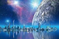Dimex Futuristic City Vlies Fotobehang 375x250cm 5-banen
