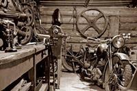 Dimex Vintage Garage Vlies Fotobehang 375x250cm 5-banen