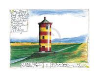 PGM Sabine Gerke - Der Leuchtturm von Pilsum Kunstdruk 30x24cm
