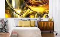 Dimex Golden Wires Vlies Fotobehang 375x150cm 5-banen