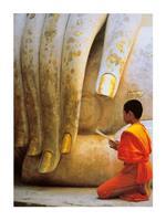 PGM Hugh Sitton - The Hand of Buddha Kunstdruk 60x80cm