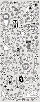 Komar Scribble Park Vlies Fotobehang 100x250cm 1-baan