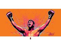 Pyramid Muhammad Ali Loud Kunstdruk 80x60cm