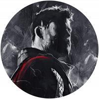 Komar Avengers Painting Thor Zelfklevend Fotobehang 125x125cm rond