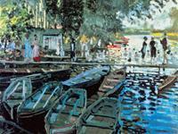 PGM Claude Monet - Bathers at la Grenouillers Kunstdruk 80x60cm