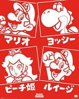 Pyramid Super Mario Japanese Characters Poster 40x50cm