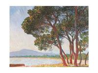 PGM Claude Monet - La plage de Juan-Les-Pins Kunstdruk 80x60cm