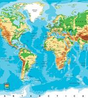 Dimex World Map Vlies Fotobehang 225x250cm 3-banen