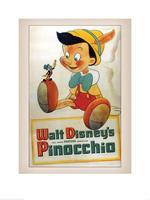 Pyramid Pinocchio Conscience Kunstdruk 60x80cm