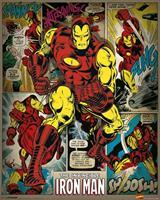 Pyramid Marvel Comics Iron Man Retro Poster 40x50cm