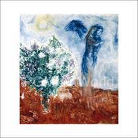 PGM Marc Chagall - Die Liebenden über St.Paul Kunstdruk 70x70cm