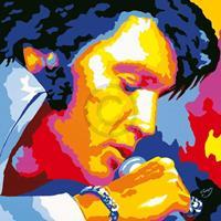 PGM Vladimir Gorsky - Elvis Kunstdruk 85x85cm