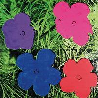 PGM Andy Warhol - Flowers C. 1984 Kunstdruk 60x60cm