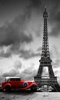 Dimex Retro Car in Paris Vlies Fotobehang 150x250cm 2-banen