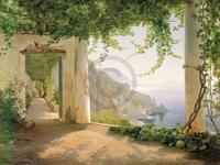 PGM Carl Frederic Aagaard - Amalfi Cappuccini Kunstdruk 101x76cm